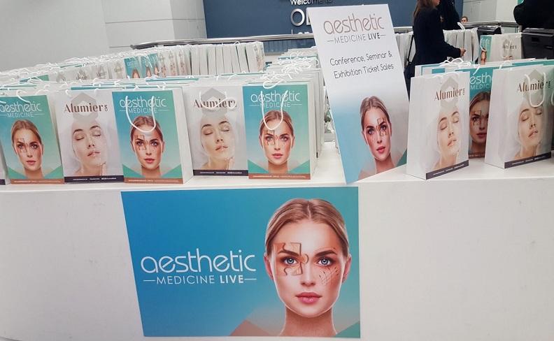 Aesthetics broucher in showcase