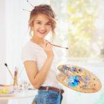 female artist picture
